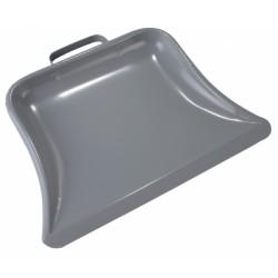 Metaal stofblik grijs 23 cm