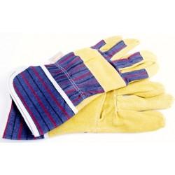 Werkhandschoen, geel