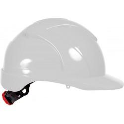 Veiligheidshelm ABS met draaiknop wit