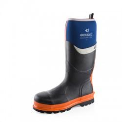 Buckler Boots S5, rubber neopreen, blauw-oranje