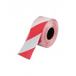 Afzetlint trekvast rood/wit 500mtr/rol